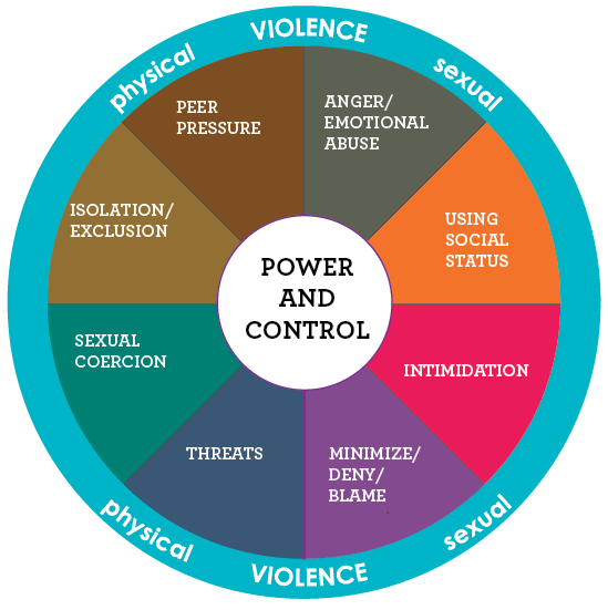 College Hookup Violence Power And Control Wheel